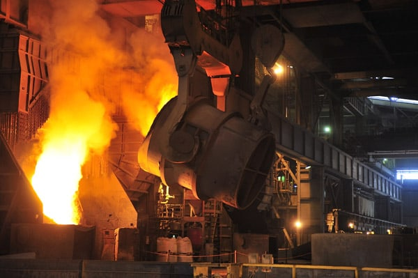 blast furnaces produce high quality steel from raw materials