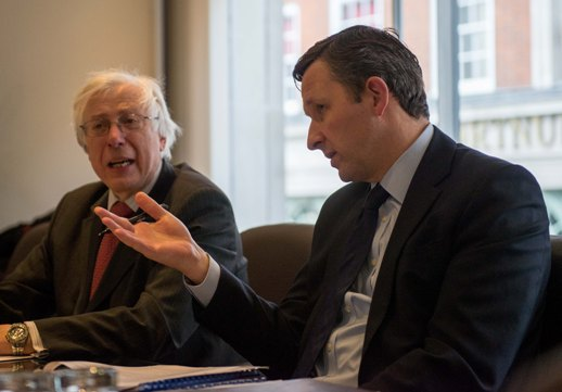 (l-r) Decisions: Iona Capital chairman John Kuttner and funds manager Nick