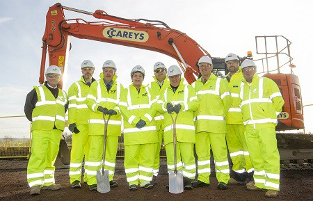 Representatives from FCC join councillors from Midlothian and Edinburgh councils for a ground breaking ceremony at the Midlothian site